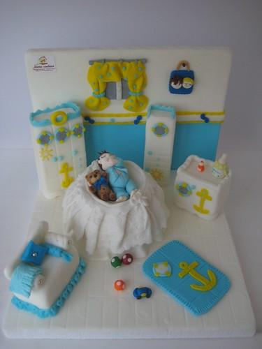 baby shower bebek odası pastası