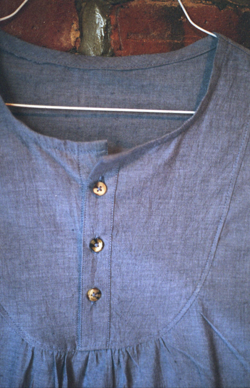 chambray dress up close