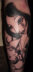 06/28/2007: Death and Orpheus (armchairdj) Tags: tattoo death comix neilgaiman theendless orpheus thesandman rightarmpart2