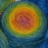 *Kaleidoscope* Gradient-dyed BFL - Special Black Friday Auction!!