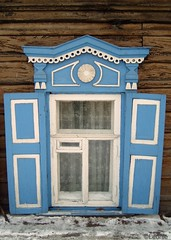 Traditional Russian Woodcarved Window (Leeuwtje) Tags: window russia irkutsk woodcarving leeuwtje lpwindows