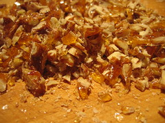 freshly chopped praline