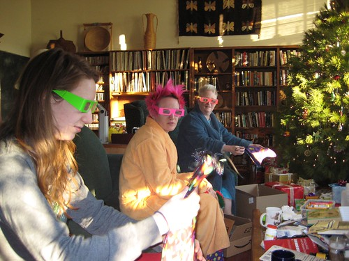 Christmas with rainbow goggles