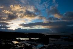 Winter sky (Hrnn Thorarensen (NinnaK)) Tags: ocean winter sunset sky beach clouds island iceland supershot