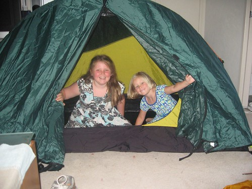 Camping in the loungeroom