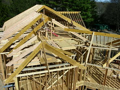 roof angle (Darren-) Tags: wood sky house building home darren work sticks construction cooper empire frame framing craftsman residential bosch lumber irwin hanson skill newhomeconstruction woodframe carpenterssquare housingstarts wwwdarrenmoorecontractingcom raftersquare complexroofframing aluminumsquare