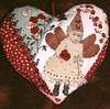 Crazy quilted heart