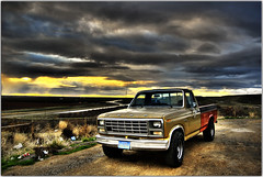 Free Truck (Extra Medium) Tags: california ford abandoned clouds sunrise rust scenery f150 slideshow hdr ruraldecay fordtruck oilspill scenicoverlook hdrcars fordf150supreme fordf150custom