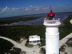 Light House Touristsa (canuckap) Tags: ocean lighthouse kite mexico aerial punta sur cozumel kap roger gunter