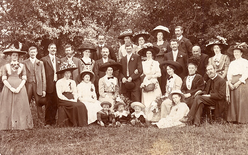 Large Edwardian Wedding Photo