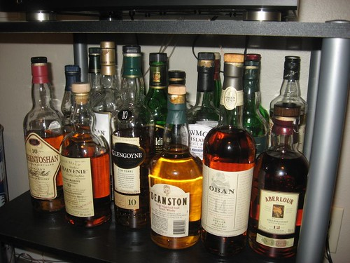 Tom's scotch collection