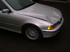 Unwelcome deer encounter (johnskabardonis) Tags: 2003 fall pittsburgh accident robinson bmw528i deercollision