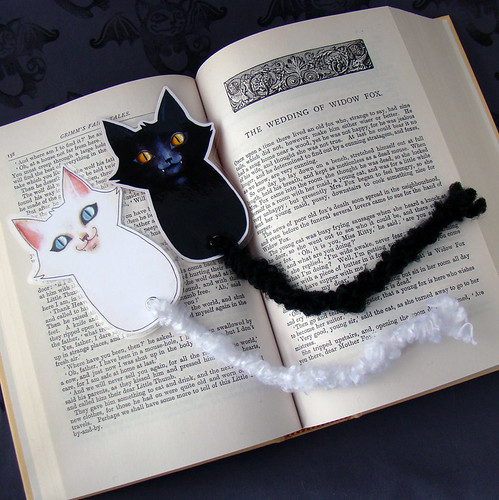 Black and White Cat Bookmarks