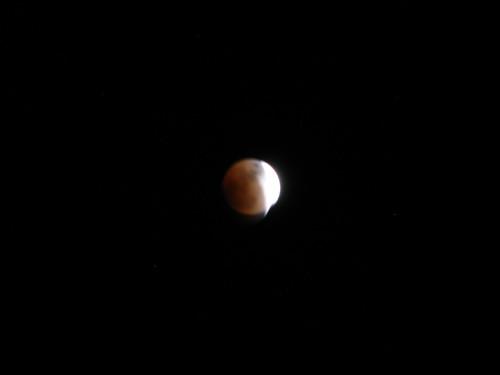 Partial Lunar Eclipse, 2/20/08 9:45PM, Westport, NY
