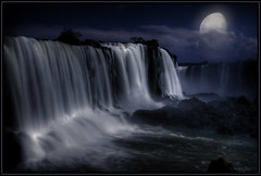 Fake night (Kaj Bjurman) Tags: brazil night eos fake falls waterfalls cataratas iguazu hdr kaj photomatix 40d abigfave bjurman