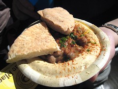 Hummus and pita, Hummus Place