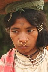 india - orissa (Retlaw Snellac Photography) Tags: travel people india tourism canon photo tribe orissa odisha noseringthefeminine