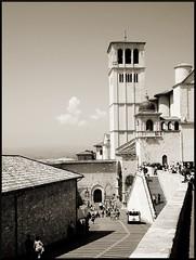 Assisi (2) (Fabrizio Paterlini) Tags: italy white black sepia bianco nero assisi umbria seppia fabriziopaterlini