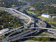 freeways in Houston (photographer unknown, GNU free documentation license)