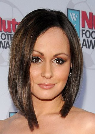 Chanelle Hayes With Asymmetrical Long Bob Hairstyle