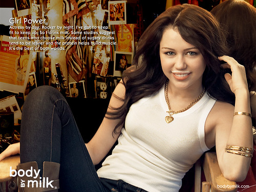 Miley Cyrus Body By Milk