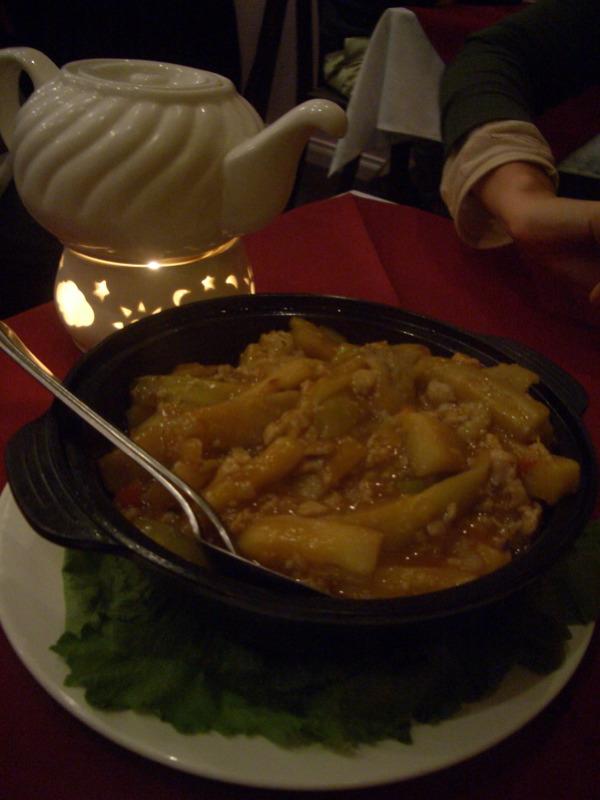 Eggplant hotpot with Szechwan sauce
