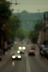 insignificance (mattrulez) Tags: street city panorama cars lights blurry nikon raw fuzzy bokeh krakow outoffocus indistinct d300 krakoff golddragon mywinners abigfave aplusphoto