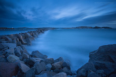 Time Passes By II (Explored) (Normann Photography) Tags: blue bluehour consists longexposure remains rocks rocky sea seascape shore time timeflies timepassesby vestfold norway no mariaedgeworth ifwetakecareofthemomentstheyearswilltakecareofthemselves