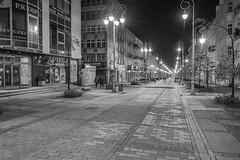 Kielce (nightmareck) Tags: kielce świętokrzyskie polska poland europa europe fotografianocna bezstatywu night handheld blackandwhite bw czarnobiały czarnobiałe fujifilm fuji xe1 apsc xtrans xmount mirrorless bezlusterkowiec xf1855 xf1855mm xf1855mmf284rlmois zoomlens fujinon