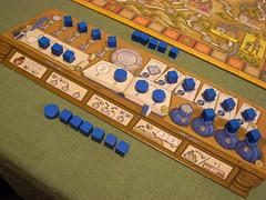 ハンザ・テウトニカ:プレイヤーの書き物机ボード