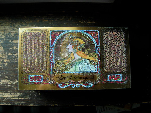 Whitman Salmagundi Tin with Mucha Design