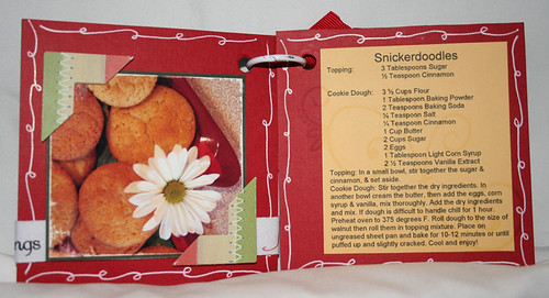 christmas recipe mini album