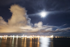 port of miami (willy gil) Tags: longexposure cloud moon florida miami 30d 1755f28is