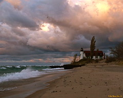 November Wind (John Clement Howe) Tags: november lighthouse michigan pointbetsie benziecounty