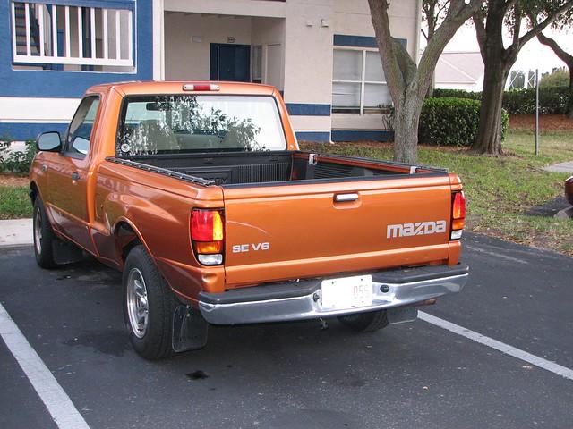 orange truck forsale mazda mazdab3000