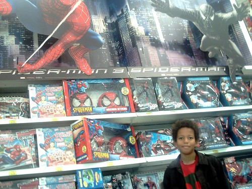 Hugo en el Toys'R'Us: SPIDERMAN