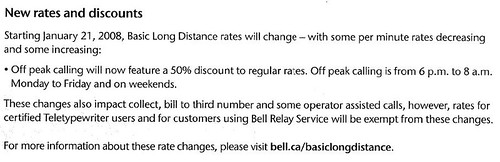 Bell Long Distance Flyer - Text