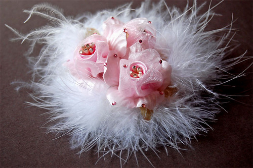 Pink Fuzzies Flower Hair Accessory
