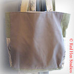 Spring Green and Gray<p>Small Knitting or Diaper Tote