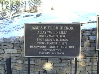 Signage for Wild Bill Hickok's Grave