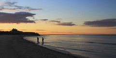 Dusk over Raritan Bay (Valerie Craig (Val Ann)) Tags: beach newjersey fishing fishermen dusk nj rack monmouthcounty lowtide belford valann 123njpeople valfbjuly bayshorebchf valann422