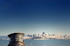 San Fran from across the bridge (krobbie) Tags: sf city bridge blue water golden nikon gate san francisco cityscape random lone sailor d200 50mmf18d nikond200 krobbie nikoncapturenx