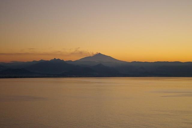 L'Etna vista da Milazzo