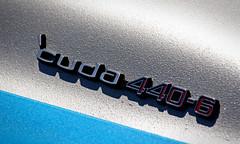 Plymouth 'Cuda (erdero) Tags: auto blue detail car automobile plymouth badge cuda 440 hillsborough hillsboroughconcours 4406 hillsboroughconcoursdelegance hillsboroughconcoursedelegance