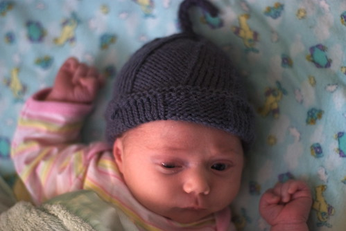 First mommy-made hat!