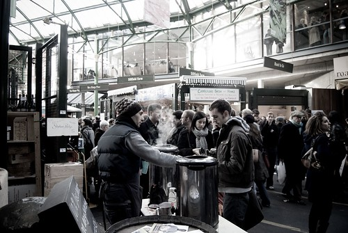 Steam Rising from Mulled Wine, Borough Market