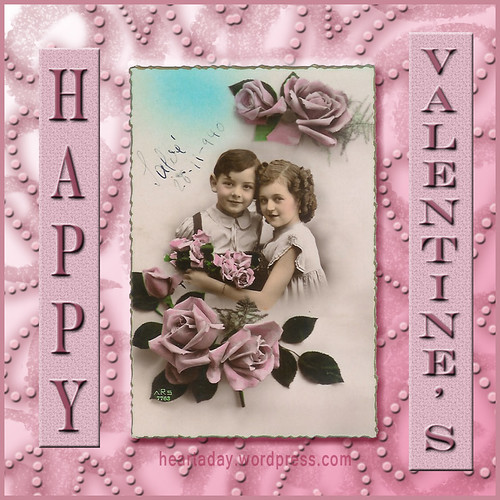 Vintage Children Valentine Collage