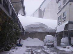 積雪量が半端じゃない