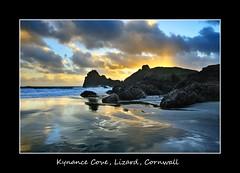 Framed 3 (midlander1231) Tags: uk light sunset sea england sky seascape reflection beach nature water clouds sunrise reflections landscape evening coast seaside cornwall surf waves britain cliffs