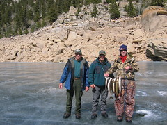 Me, Bob and Tom (fethers1) Tags: icefishing laketrout grossreservoir